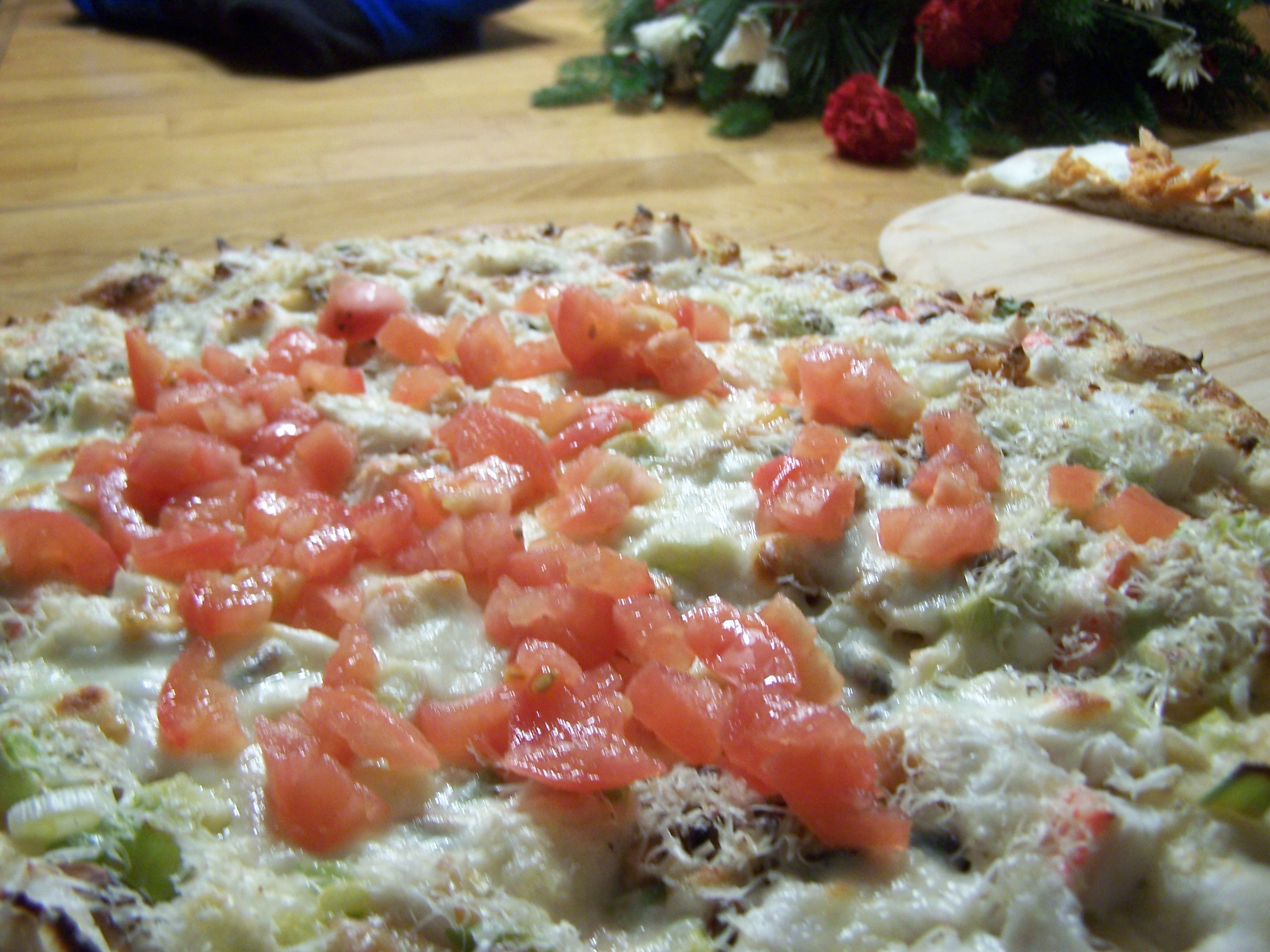 Crab Asiago Pizza