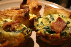 Bacon Egg and cheese Souffle