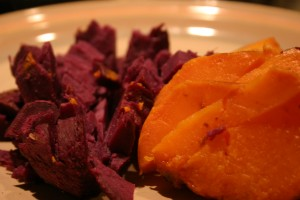 two kinds of sweet potatoes