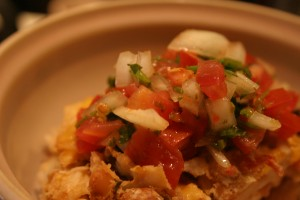 mexican casserole in bowl