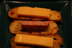 crostini with cheese