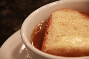 French Onion Soup with Sourdough Cheesebread
