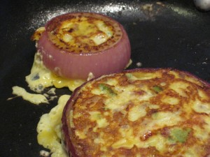 browned onion frittata bites