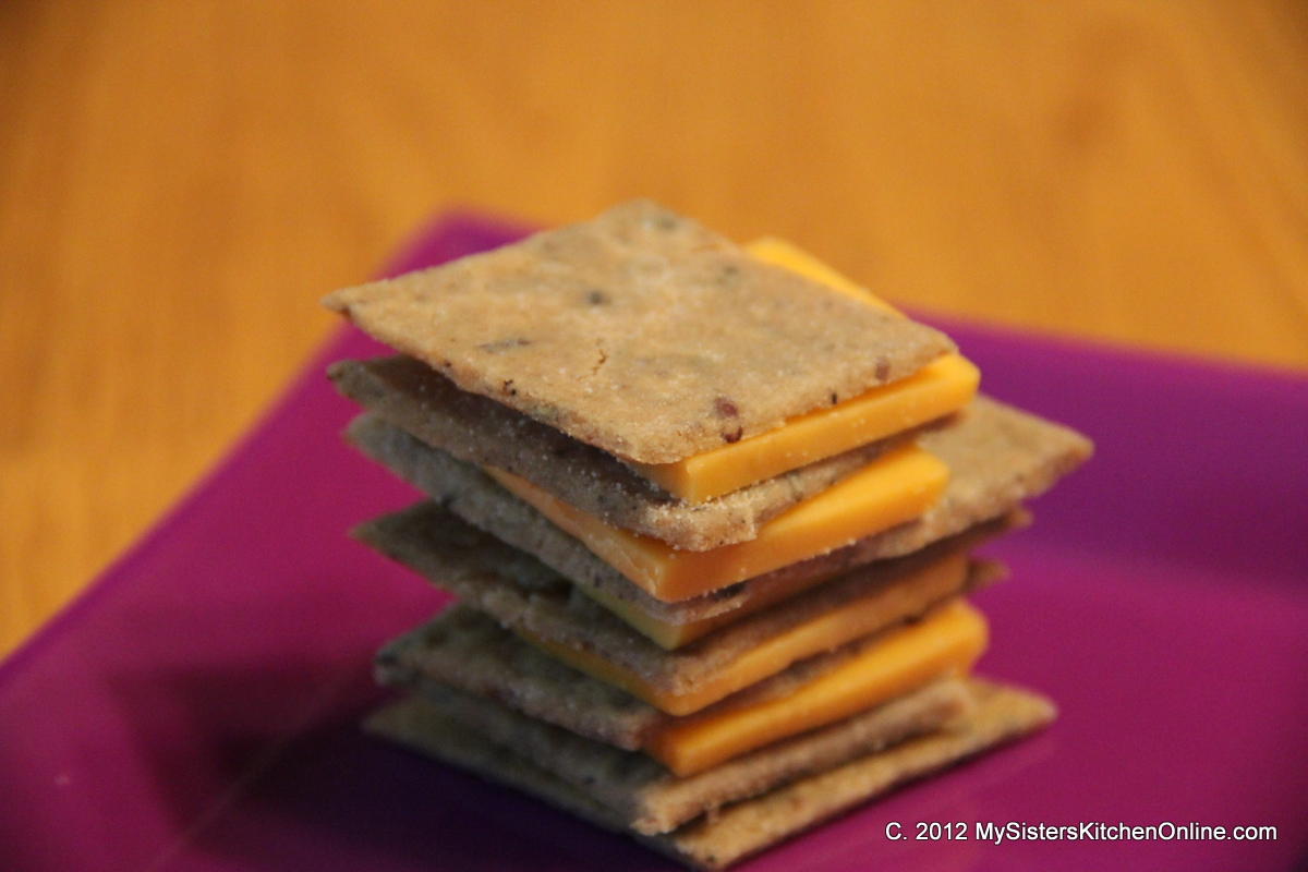 Crispy Gluten-Free Homemade Rice Crackers with cheese | My Sister's ...