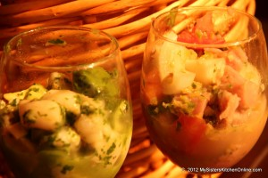 Two types of Ceviche recipes from Rick Bayless