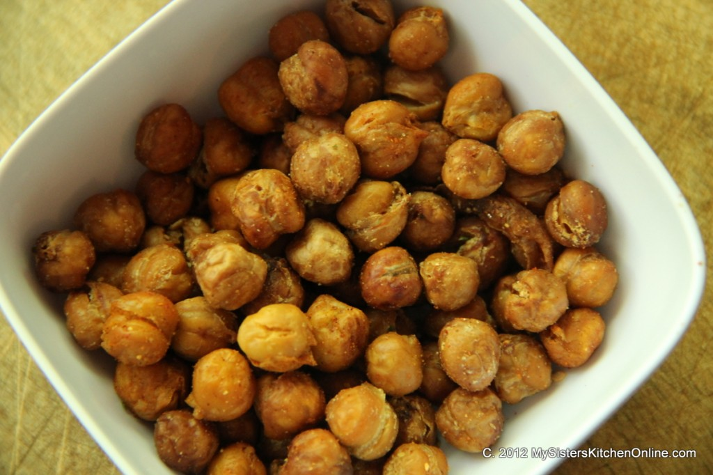 Crunchy Toasted Garbanzo Beans